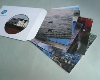 Winter, eight postcards, postcards, set, minnievoss, analog photography, postcard, photographer