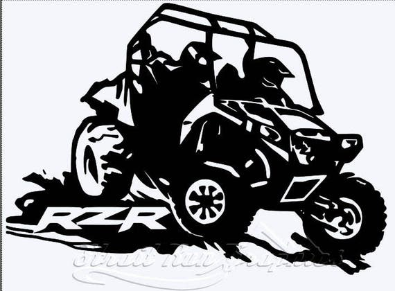 Polaris Razar Rzr Utv Atv Side By Side Vinyl Decal 4x4 Atving