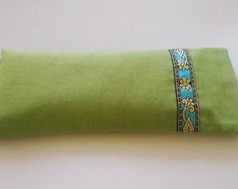 Aromatherapy Lavender Yoga Eye Pillow - Green