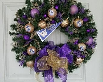 Washington Huskys Christmas Wreath