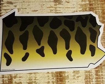 Pennsylavania Smallmouth Bass Sticker Decal