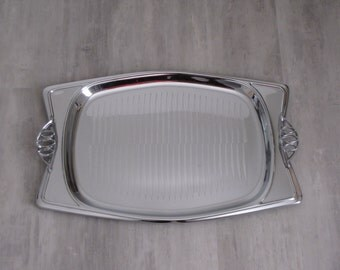 Vintage Hellerware Chromium Serving Tray
