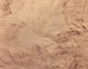 Sculpted Hide Luxe Cuddle  by Shannon Fabrics in Ice Pink