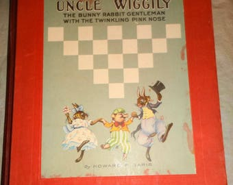1924 Uncle Wiggily 1st Edition Book & Early Game Lot