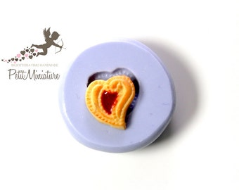 Heart in 3d mold-mold flexible silicone polymer clay charm kawaii polymer clay jewelry soap plaster resin  ST317