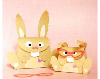 """plotterdatei - mini gift bag """"bunny"""""""
