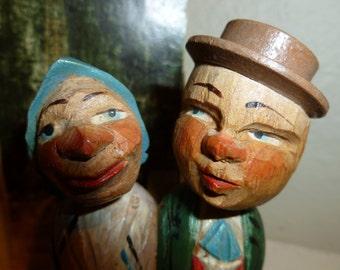 Vintage ANRI Kissing Couple Bottle Stopper