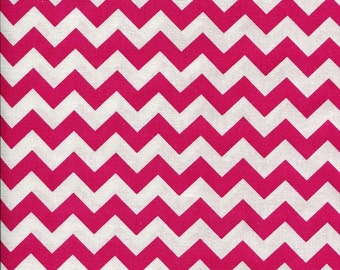 Chevron Zig Zag Flamingo Hot Pink Fabric
