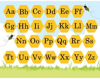 Montessori Matching Alphabet Set - Uppercase and Lowercase Alphabet - ABC Practice - Early Reading - Memory - Preschool Learning