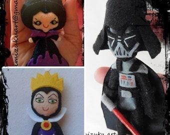 Broche Maléfica, broche Darth Vader, Broche Evilqueen, brooch maleficent, brooch Darth Vader, brooch Evilqueen, pin, mimizuku art