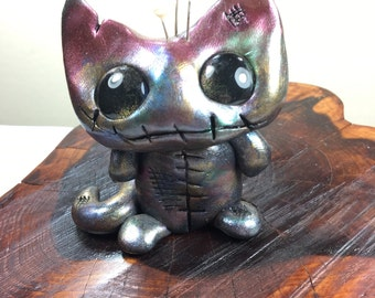 OOAK polymer clay Voodoo Kitty
