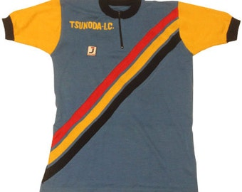 60's vintage Tsunoda cycling jersey made in Italy