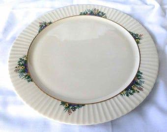 "Vintage Lenox China 12.5"" Serving Platter - ""Rutledge Pattern"" - Made in USA - 1980's"
