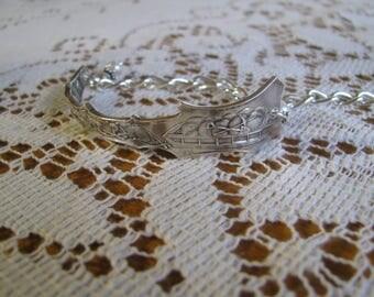 Sterling Bracelet, Spoon Jewelry, Dog Sled, animal bracelet, dogs, gold miner, silver bracelet, c.1900's., sterling animal bracelet, alaskan