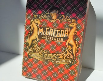 Shirt Box / Vintage Plaid McGregor Box / Closet relic from the best plaid shirt manufactor / Plaid Shirt Relic