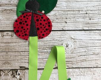 Lady Bug Hair Bow Holder/ Wall Hanger