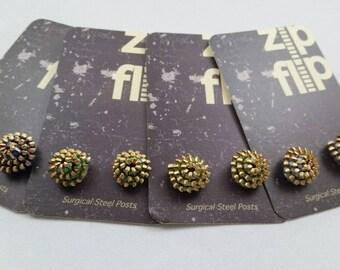 Zipper Stud Earrings - Zipper Studs - Zipper Post Earrings - Kelly Green - Hypoallergenic - Stud - Unique