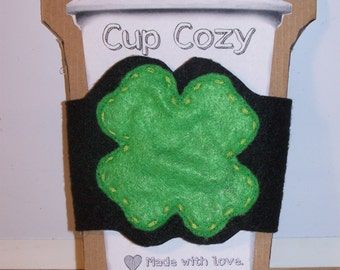 Four-Leaf Clover Cup Cozy