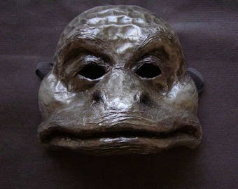 Masquerade mask Frog mask Scary mask Animal mask Face mask Paper mache mask