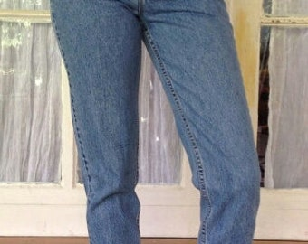 LEVI'S HIGH WAIST Vintage Jeans Denim Medium Blue Wash Gift Womens 2 3 4 5 6 7 8 9 24 25 26 27 28 29 30 31 32 33 34 35 36 Authentic Slim Fit