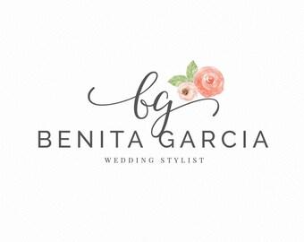 wedding logo - name Logo - stylist logo - custom logo design - floral logo - luxury logo branding - creative logo - feminine logo- studio