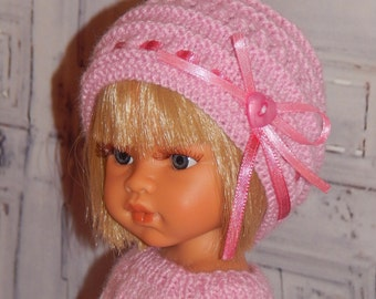 Hand Knit Clothes Outfit for 13 inch dolls such as Paola Reina, Antonio Juan Munecas, Corolle Les Cheries