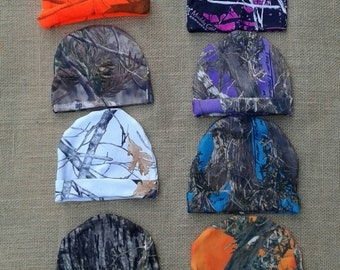 NEW ! Camo Newborn to 3 months hats select camo color below