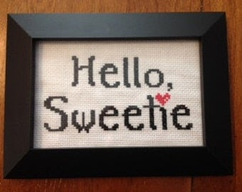 Doctor Who River Song Hello Sweetie Cross Stitch