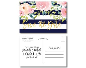 PRINTABLE Save the Date Postcard, Printable Save the Date, Wedding Save the Date, Save-the-Date, Wedding Postcard, Save our Date #CL318