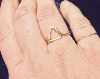 Triangle Wire Ring