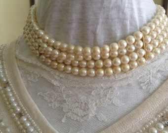 Mallorca by Deltah Multi-Strand Pearl Necklace And Bracelet