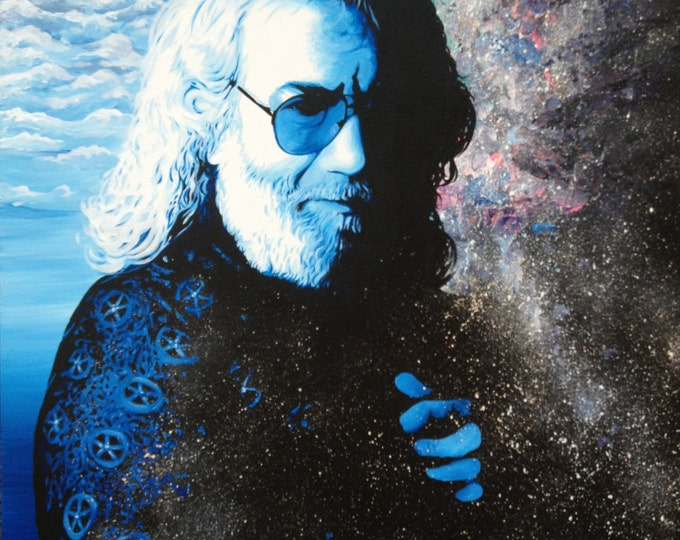"Giclee Canvas Print *embellished - ""Stella Blue - Jerry Garcia"""