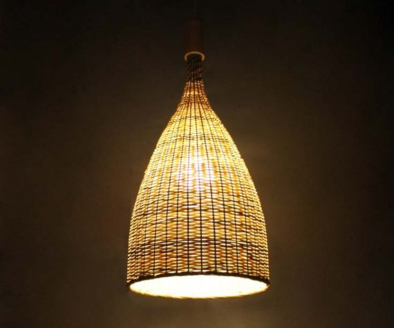 Flared bamboo pendant lights bamboo ceiling lighting bamboo like this item aloadofball Image collections