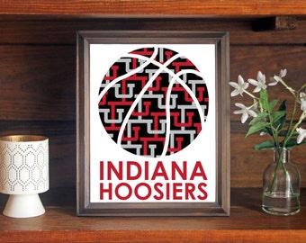 Indiana University IU Hoosiers Basketball Print