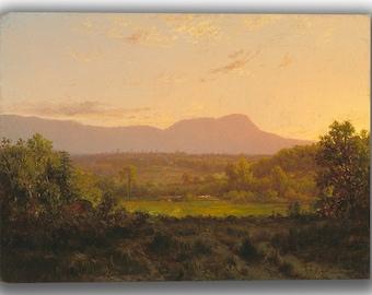 Alexander Helwig Wyant: Peaceful Valley. Fine Art Canvas. (04119)
