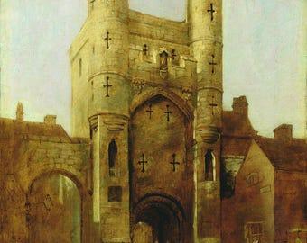 William Etty: Monk Bar, York. Fine Art Print/Poster. (004160)