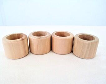 Wooden Napkin Rings Set Of 4, Unfinished Napkin Rings Set Of 4, Unfinished Wood Napkin Rings Set Of 4