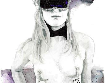 Lamina A4 «Bad girl»