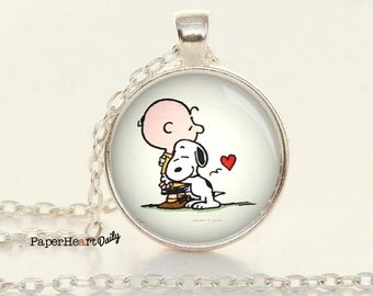 Charlie Brown Necklace - Snoopy Necklace - Snoopy Charm - Charlie Brown Pendant - (B3030)