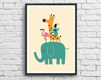 Art-Poster 50 x 70 cm - Baby Animals