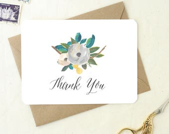 Wedding Shower Thank You Cards. Blank Cards Floral. Thank You Notes. Baby Shower Thank You Cards. Shower Thank You. Wedding Thank You.