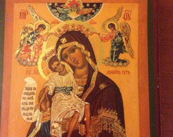 Icon of the Virgin of immortal color