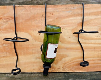 Forged Wine Bottle Hanger with Hook