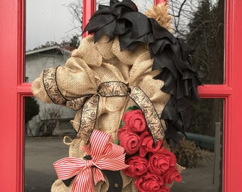 Kentucky Derby Wreath Horse Head Derby Decor Derby Wreath Horse Run for the Roses Go Baby Go Horse Racing Wreath Derby Wreath Kentucky Decor