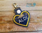 Aldi quarter keeper key fob- keychain, cart coin holder, quarter pouch, Aldi, Aldi heart, I love Aldi, Aldi quarter keychain