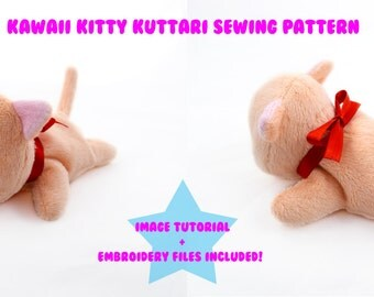 PlanetPlush Kawaii Kitty Kuttari Plush Sewing Pattern