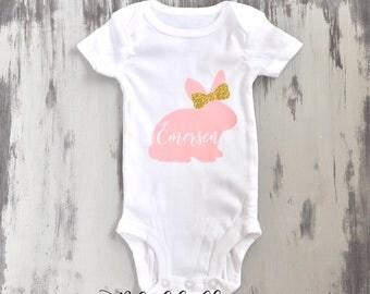 Easter Onesie, Easter Outfit, Newborn onesie, Personalized Onesie, Baby shower gift,