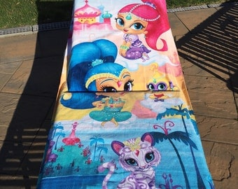 Shimmer and Shine Beach Towel - Personalized Beach Towel