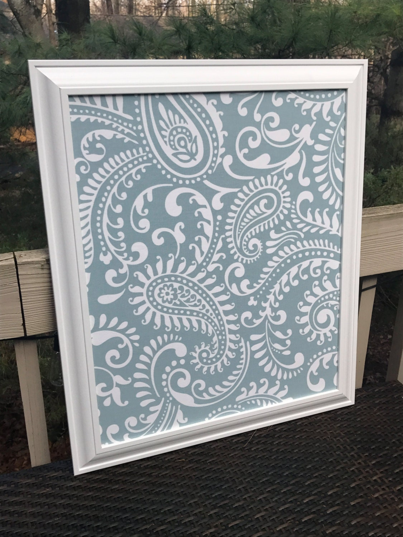 Framed Fabric Cork Board Bulletin Board Memo Board Framed