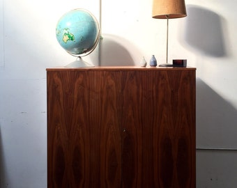 Mid Century Danish Modern walnut fold out desk